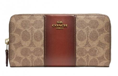 Coach Portemonnaie, Signature groß, Exclusivausstattung Braun 31546