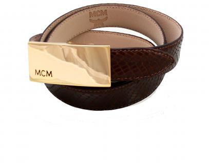 MCM Gürtel Louis mit Klapp-Schließe gold Old Classic, Leder braun, 110 cm kürzbar - Vorschau