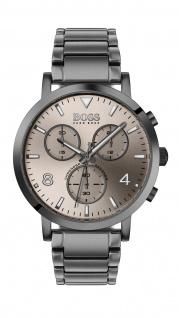 Hugo Boss Herren Uhr Spirit - Casual Edelstahl Grau, 1513695