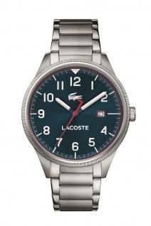 Lacoste Herren Uhr Lacoste Continental Edelstahl Silber, 2011022