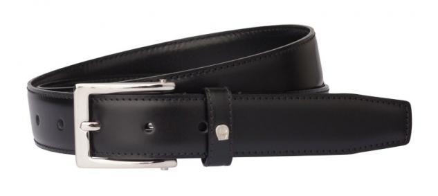 Aigner Gürtel Basic mit S-Schließe silber 125626 schwarz
