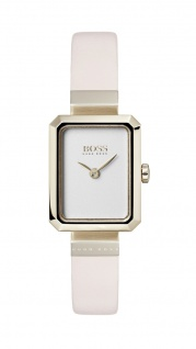 Hugo Boss Damen Uhr Whisper Lederarmband rosé, 1502434