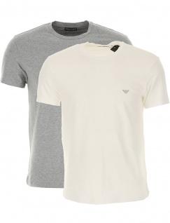 Emporio Armani 2er Set T-Shirt, Weiß / Grau 111267 Größe M