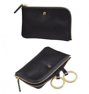 Aigner Schlüsseletui mit RV, 153533 schwarz.