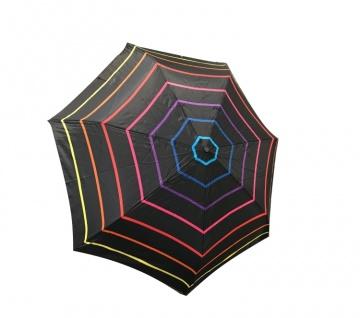 Happy Rain Taschenschirm gestreift multicolor, 46852D