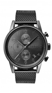 Hugo Boss Herren Uhr Navigator Edelstahl, 1513674