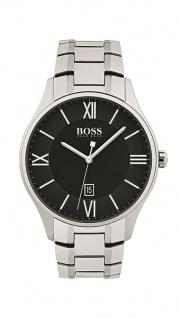 Hugo Boss Herren Uhr Governor Edelstahl silber, 1513488
