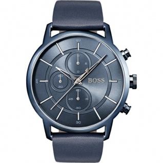 Hugo Boss Herren Uhr Architectural Leder blau, 1513575