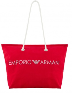 Emporio Armani Badetasche / Strandtasche, Rot 262653