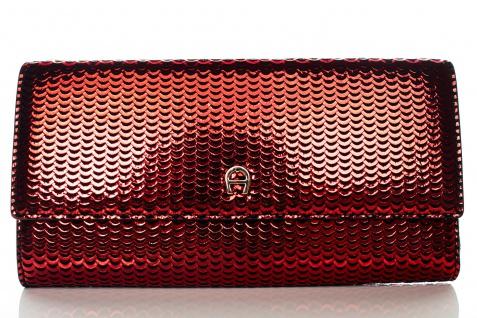 Aigner Fashion Geldbörse, Metallic Look, 156133 Brick Red - Vorschau 1