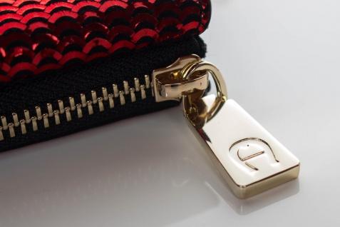Aigner Fashion Geldbörse, Metallic Look, 156133 Brick Red - Vorschau 4