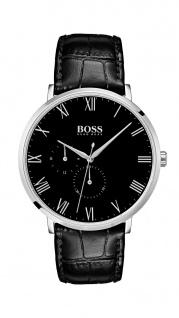Hugo Boss Herren Uhr William Leder schwarz, 1513616