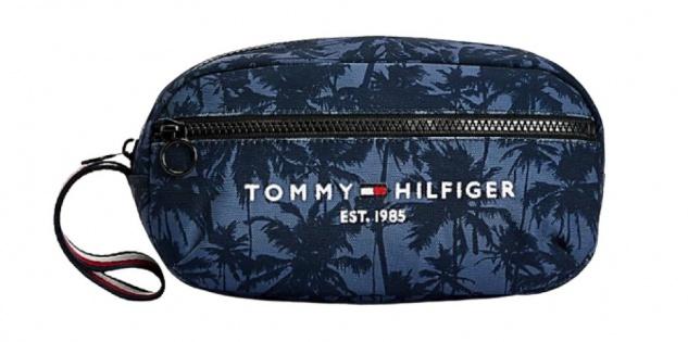 Tommy Hilfiger Kulturbeutel Established Palm, Dunkelblau