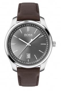 Hugo Boss Herren Uhr Circuit Leder Braun, 1513726