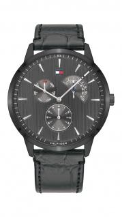 Tommy Hilfiger Herren Uhr Brad - Dressed Up Leder Grau, 1710388