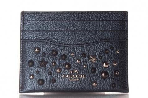 Coach Kreditkartenetui/ Flat Card, Metallic Blue 59453