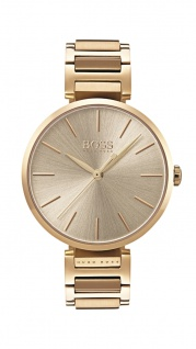 Hugo Boss Damen Uhr Allusion Edelstahl gold, 1502415