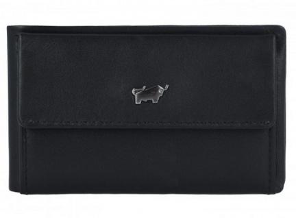 Braun Büffel Portemonnaie Luzern XS, schwarz 14030