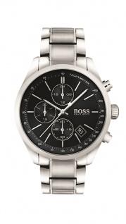Hugo Boss Herren Uhr Grand Prix Edelstahl silber, 1513477