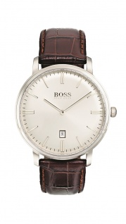 Hugo Boss Herren Uhr Tradition Leder braun, 1513462