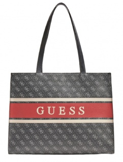 Guess Handtasche Monique Schwarz / Rot
