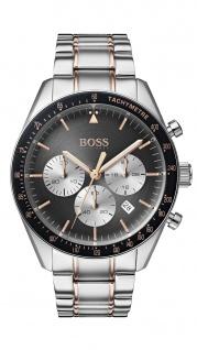 Hugo Boss Herren Uhr Trophy Edelstahl silber, 1513634