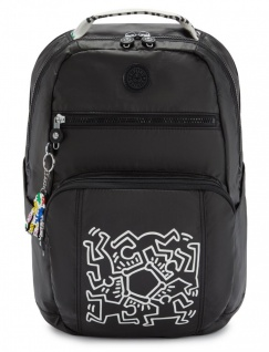 "Kipling Rucksack Troy "" by Keith Haring"", KH Chalk"