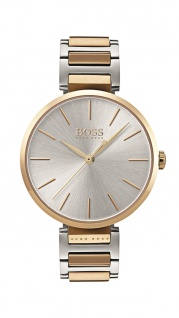 Hugo Boss Damen Uhr Allusion Edelstahl roségold bicolor, 1502417