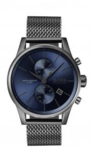 Hugo Boss Herren Uhr Jet Edelstahl grau, 1513677