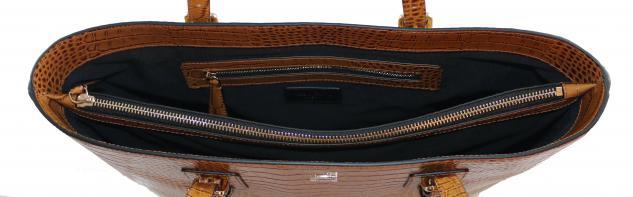 Armani Collezioni Leder Shopper 926007, Light Brown - Vorschau 3