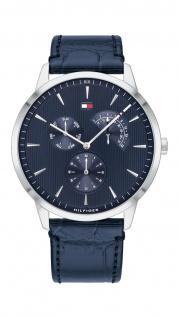 Tommy Hilfiger Herren Uhr Brad - Dressed Up Leder Blau, 1710387