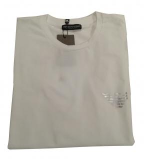 Emporio Armani Herren Langarm - T-Shirt / Longsleeve, Weiß 111023 Größe M