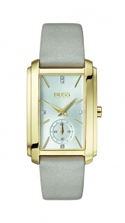 Hugo Boss Damen Uhr Aspiration Lederarmband hellgrau, 1502440