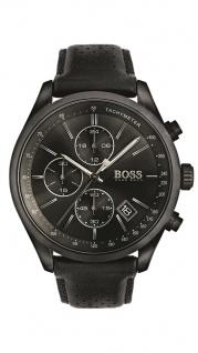 Hugo Boss Herren Uhr Grand Prix Leder schwarz, 1513474