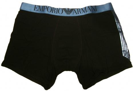 Emporio Armani Stretch Cotton Trunk, Schwarz 110818 Größe S