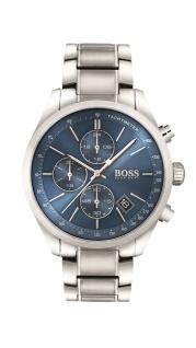 Hugo Boss Herren Uhr Grand Prix Edelstahl silber, 1513478