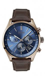 Hugo Boss Herren Uhr Grand Prix Leder braun, 1513604