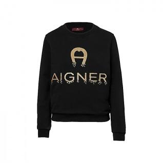Aigner Damen Sweatshirt schwarz, 252004-L