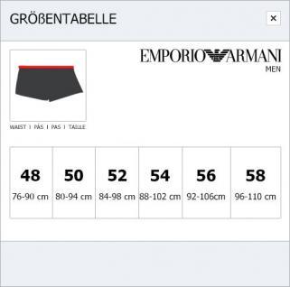 Emporio Armani Basic Stretch Cotton Trunk, Nero Stampato, Größe S - Vorschau 3