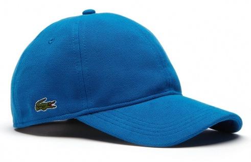 Lacoste Basic Cap Baumwoll-Piqu&eacutesemik, Blau