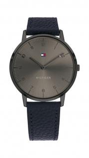 Tommy Hilfiger Herren Uhr Cooper- Casual Leder Schwarz, 1791583