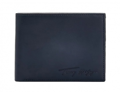 Tommy Hilfiger Signature Portemonnaie, Dunkelblau