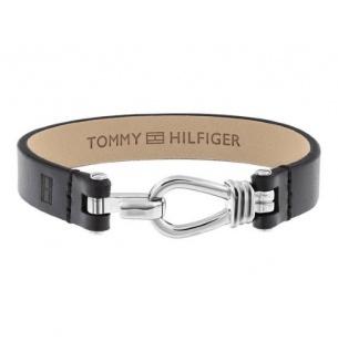 Tommy Hilfiger Herren Armband Leder schwarz, 2701053