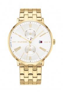 Tommy Hilfiger Damen Uhr Jenna Casual Edelstahl Gold, 1782069