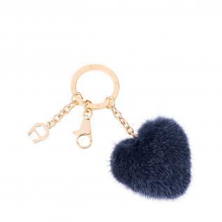 Aigner Taschenanhänger / Schlüsselanhänger Herz, blau