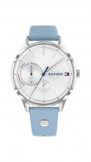 Tommy Hilfiger Damen Uhr Brooke- Casual Leder Blau, 1782023