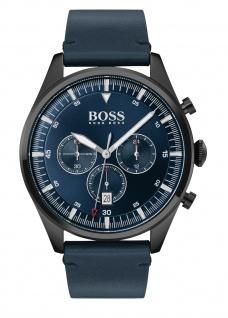 Hugo Boss Herren Uhr Pioneer Leder Blau, 1513711