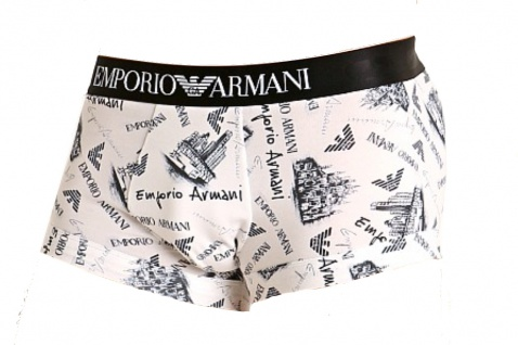 Emporio Armani Stretch Cotton Trunk / Geschenkbox , Weiß 111389