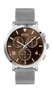 Hugo Boss Herren Uhr Spirit - Casual Edelstahl Silber, 1513694
