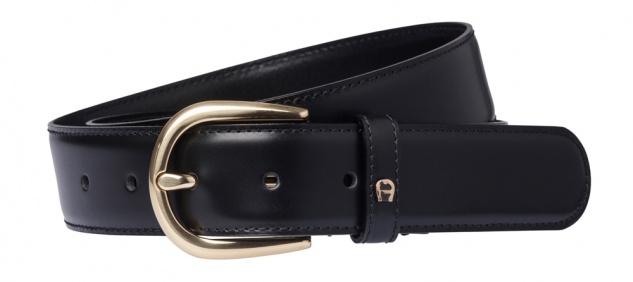 Aigner Gürtel Basic mit S-Schließe gold 126347, schwarz